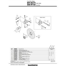 Shimano MTB BR-M375 Scheibenbremssattel Schwarz